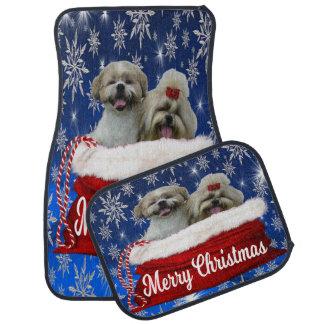シーズー(犬)のtzuのカーマット、クリスマス カーマット
