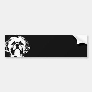 シーズー(犬)のTzuのギフト-バンパーステッカー バンパーステッカー