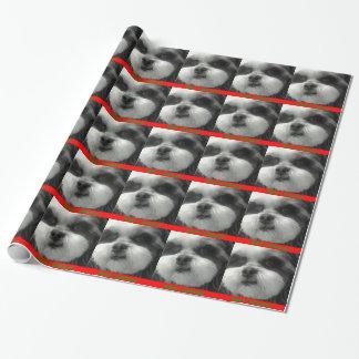 シーズー(犬)のtzuのクリスマスの覆い ラッピングペーパー