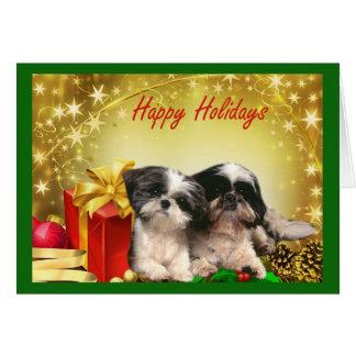 シーズー(犬)のTzuのクリスマスカードのギフト カード