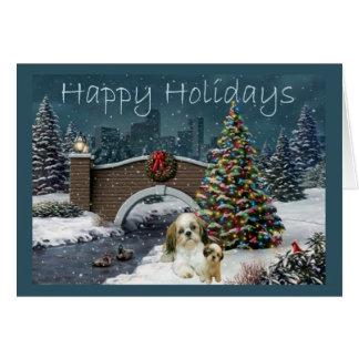 シーズー(犬)のTzuのクリスマスカードの夕べ カード