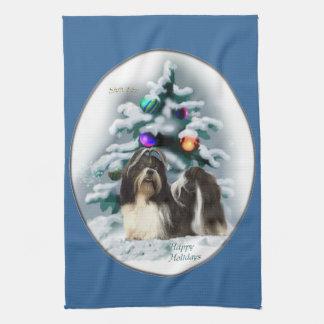 シーズー(犬)のTzuのクリスマス キッチンタオル