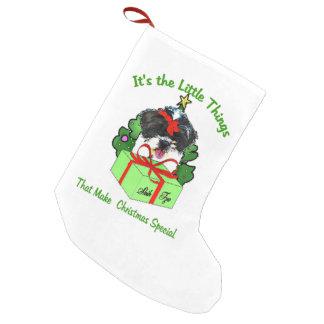 シーズー(犬)のTzuのクリスマス スモールクリスマスストッキング