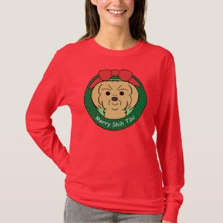 シーズー(犬)のTzuのクリスマス Tシャツ