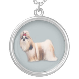 シーズー(犬)のTzuのネックレス シルバープレートネックレス