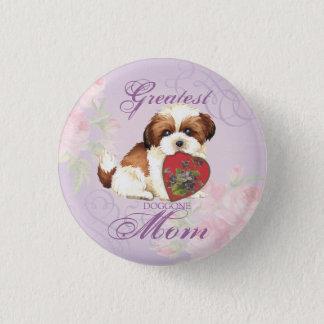 シーズー(犬)のTzuのハートのお母さん 缶バッジ