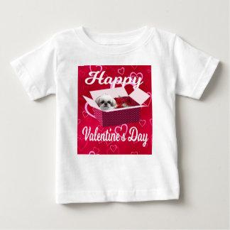 シーズー(犬)のtzuのバレンタインデーのベビーのワイシャツ、犬 ベビーTシャツ