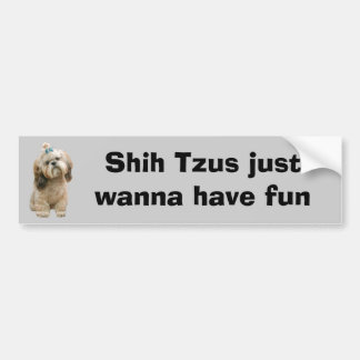 シーズー(犬)のTzuのバンパーステッカー バンパーステッカー