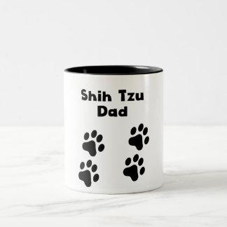 シーズー(犬)のTzuのパパ ツートーンマグカップ