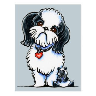 シーズー(犬)のTzuのパンダ ポストカード