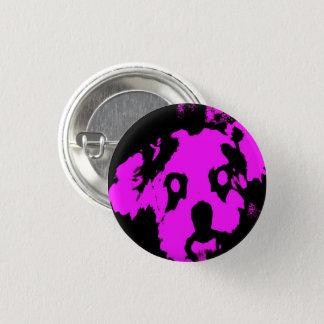 シーズー(犬)のTzuのピンクか黒い子犬の小さい円形ボタン 缶バッジ
