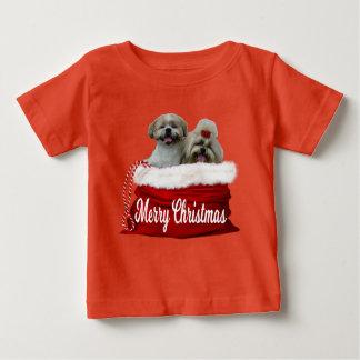 シーズー(犬)のtzuのベビーのワイシャツのクリスマス ベビーTシャツ