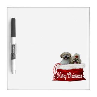 シーズー(犬)のtzuのホワイトボードのクリスマス ホワイトボード