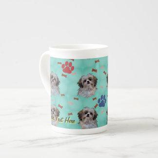 シーズー(犬)のTzuのポートレート ボーンチャイナカップ