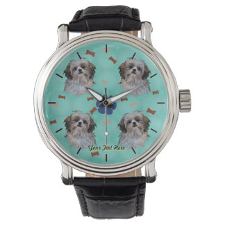 シーズー(犬)のTzuのポートレート 腕時計