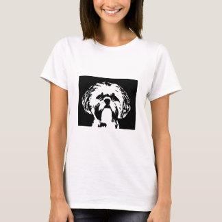 シーズー(犬)のTzuのワイシャツ-女性ベビードールのTシャツ Tシャツ