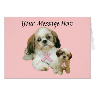 シーズー(犬)のTzuの乳癌の挨拶状 カード