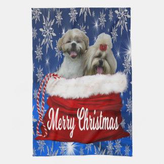 シーズー(犬)のtzuの台所タオルのクリスマス キッチンタオル