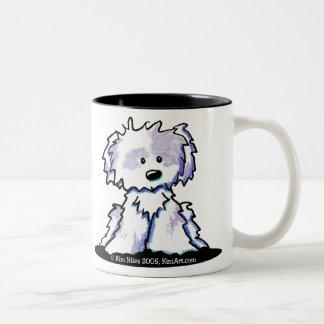 シーズー(犬)のTzuの名前入りなマグ ツートーンマグカップ