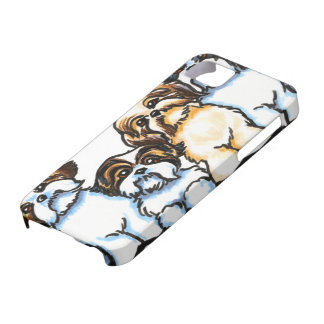 シーズー(犬)のTzuの四つ組 iPhone SE/5/5s ケース