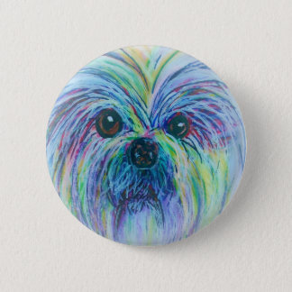 シーズー(犬)のTzuの夢みるような焦点 缶バッジ