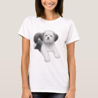 シーズー(犬)のTzuの女性ベビードールのワイシャツ Tシャツ