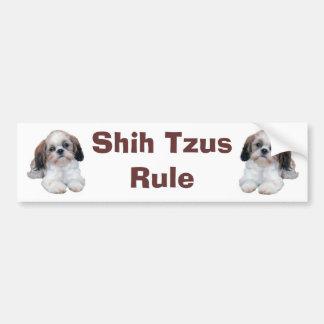 シーズー(犬)のTzuの子犬の規則のバンパーステッカー バンパーステッカー