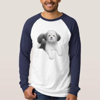 シーズー(犬)のTzuの子犬のRaglanジャージー Tシャツ