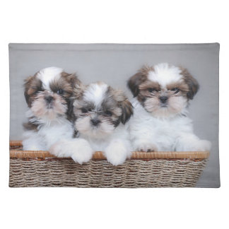 シーズー(犬)のTzuの子犬 ランチョンマット