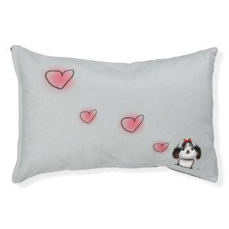 シーズー(犬)のTzuの小犬の絵 スモールドッグベッド