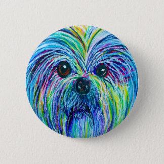 シーズー(犬)のTzuの強い色 缶バッジ