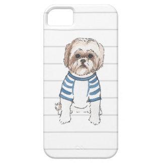 シーズー(犬)のTzuの水彩画のIphoneの場合 iPhone SE/5/5s ケース