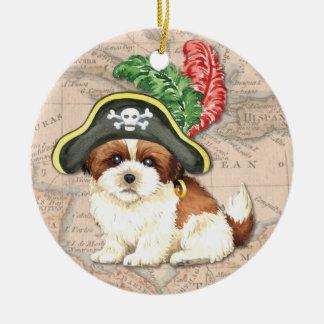 シーズー(犬)のTzuの海賊 セラミックオーナメント