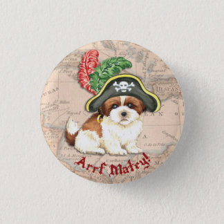 シーズー(犬)のTzuの海賊 缶バッジ