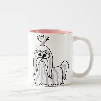 シーズー(犬)のTzuの漫画 ツートーンマグカップ