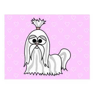 シーズー(犬)のTzuの漫画 ポストカード