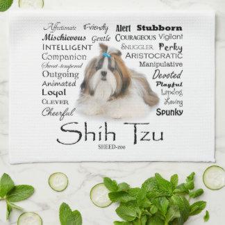 シーズー(犬)のTzuの特性の台所タオル キッチンタオル