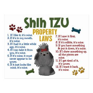 シーズー(犬)のTzuの特性の法律4 ポストカード