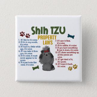 シーズー(犬)のTzuの特性の法律4 缶バッジ