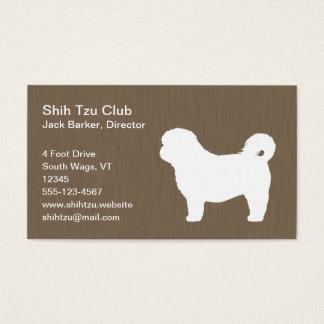 シーズー(犬)のTzuの白いシルエット 名刺