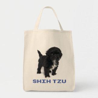 シーズー(犬)のTzuの白黒小犬愛戦闘状況表示板 トートバッグ