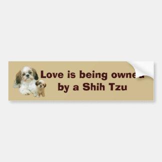 シーズー(犬)のTzuの相棒のバンパーステッカー バンパーステッカー
