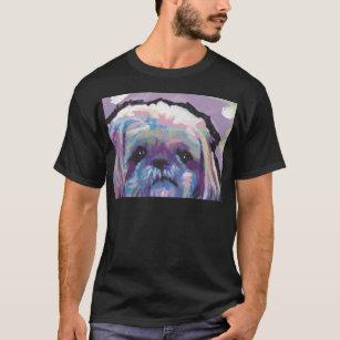 シーズー(犬)のtzuの破裂音犬の芸術 tシャツ