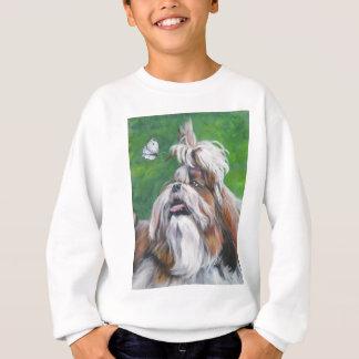 シーズー(犬)のtzuの芸術犬の絵画 スウェットシャツ