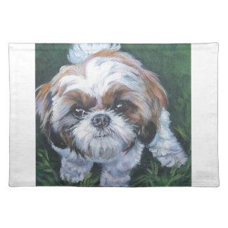 シーズー(犬)のtzuの芸術犬の絵画 ランチョンマット