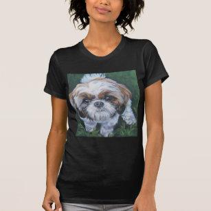 シーズー(犬)のtzuの芸術犬の絵画 tシャツ