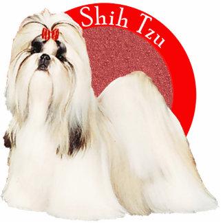 シーズー(犬)のTzuの赤い写真Pin 写真彫刻バッジ