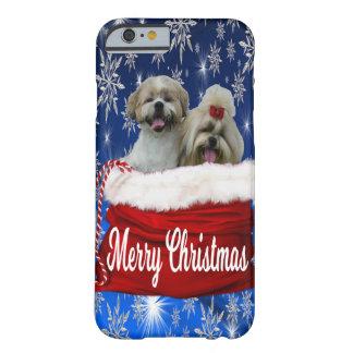 シーズー(犬)のtzuの電話箱のクリスマス barely there iPhone 6 ケース