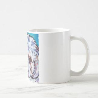 シーズー(犬)のTzuの青 コーヒーマグカップ