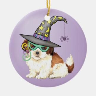 シーズー(犬)のTzuの魔法使い セラミックオーナメント